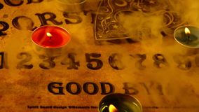 Dark Spiritual Game Ouija Board. Witchcraft soul Caller stock footage