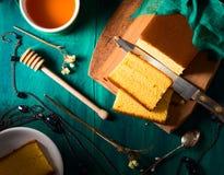 Dark  sponge cake still life Royalty Free Stock Image
