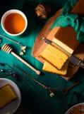 Dark  sponge cake still life Stock Images
