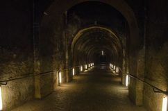 Free Dark Spooky Underground Alley Of European Vintage Building Royalty Free Stock Images - 154620829
