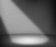 Dark Spotlight Room Background Stock Image