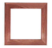 Dark square wooden picture frame Royalty Free Stock Photos
