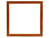 Dark square wooden picture frame Royalty Free Stock Image