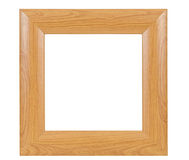 Dark square wooden picture frame Stock Images