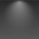 Dark stainless grille metal texture background. With light effect Royalty Free Stock Photography
