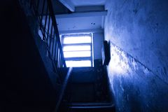 Dark staircase Royalty Free Stock Photo