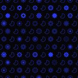 Dark star and moon seamless  pattern. Star background Royalty Free Stock Photos