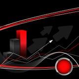 Dark statistic vector. Eps10. Modern dark statistic vector with arrows. Eps10 Stock Photo