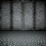 Dark steel. An image of a dark steel floor for your content stock illustration