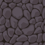 Dark Stone Seamless. Vector illustration Stock Photo