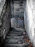 Dark stone steps Stock Photo