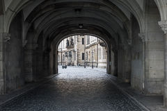 Dark stone street  in an old town Dresden Stock Photography
