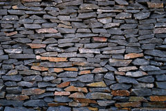 Dark stone walls. Royalty Free Stock Image