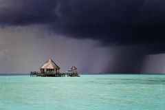 Dark storm approaching, Maldives Royalty Free Stock Image