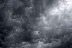 Dark storm clouds Stock Image