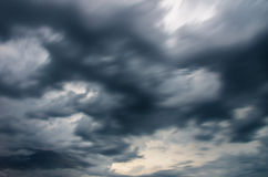 Dark storm clouds royalty free stock photography
