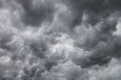 Dark storm clouds background Royalty Free Stock Photography