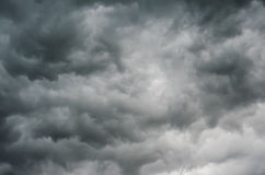 Dark Storm Clouds Stock Image