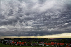 Free Dark Storm Clouds Over A City Stock Images - 96782464