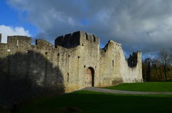 Dark Storm Clouds Over Desmond Castle in Ireland Stock Photography