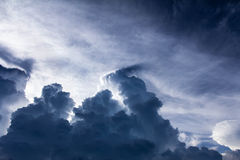 Dark storm clouds before rain Royalty Free Stock Image