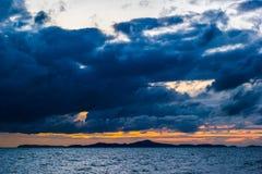 Dark storm clouds before rain Royalty Free Stock Photos