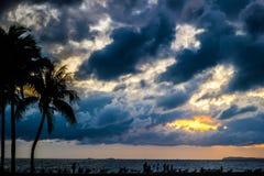 Dark storm clouds before rain Stock Photo