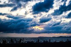 Dark storm clouds before rain Stock Images