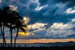 Dark storm clouds before rain Royalty Free Stock Photo