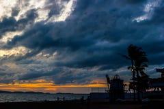 Dark storm clouds before rain Stock Photos