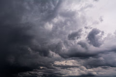 Dark storm clouds Stock Images