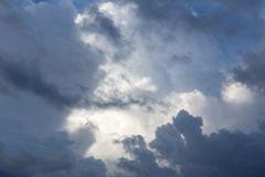 Dark storm clouds before rain Royalty Free Stock Images