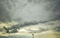 Dark storm clouds before rain. In the evening royalty free stock photo