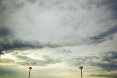Dark storm clouds before rain. In the evening royalty free stock images