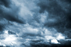 Dark storm clouds before rain. Natural background Stock Photography