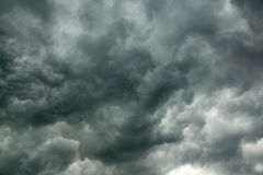 Dark storm clouds before the storm. Dark storm clouds in the sky before the storm royalty free stock images