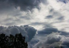Dark storm clouds Royalty Free Stock Photos