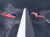 Washington Monument Storm Stock Photography