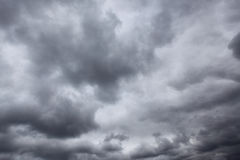 Dark storm sky. With clouds, may be used as background Stock Photo