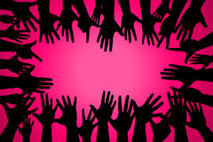 hands up colorful, night party fun or volunteer agree royalty free illustration