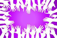 hands up colorful, night party fun or volunteer royalty free illustration