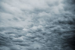 Dark Storm Sky with Rainy Clouds Stock Images