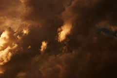Dark stormy clouds Royalty Free Stock Photography