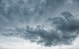 Dark stormy clouds. Dramatic background. Dark stormy clouds before rain. Dramatic background royalty free stock photography