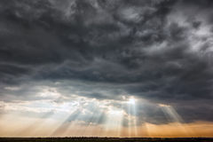 Dark stormy clouds Stock Images