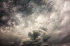 Dark stormy clouds Stock Photo
