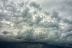 Dark stormy clouds Stock Photography