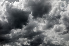 Dark stormy clouds Royalty Free Stock Photos