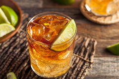 Dark and Stormy Rum Cocktail Royalty Free Stock Photos