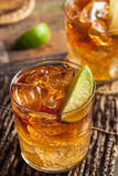 Dark and Stormy Rum Cocktail Royalty Free Stock Photography